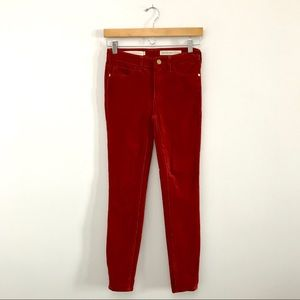 Pilcro Anthro High-Rise Skinny Corduroys Rust B3